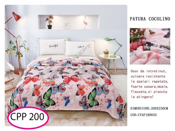 Patura Pufoasa Cocolino pentru pat dublu CPP 200