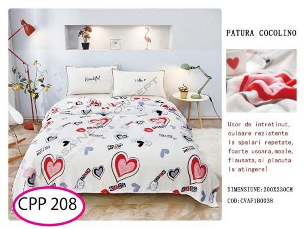 Patura Pufoasa Cocolino pentru pat dublu CPP 208