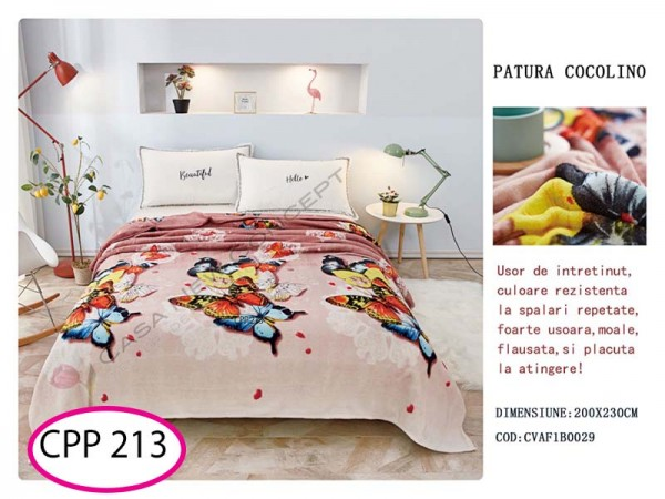 Patura Pufoasa Cocolino pentru pat dublu CPP 213