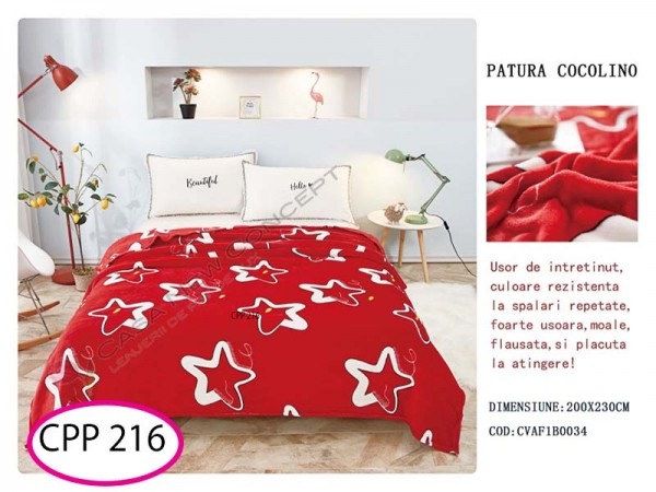 Patura Pufoasa Cocolino pentru pat dublu CPP 216