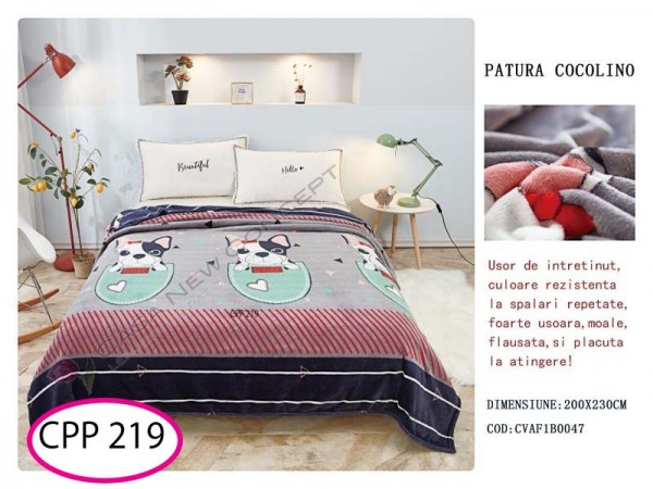 Patura Pufoasa Cocolino pentru pat dublu CPP 219