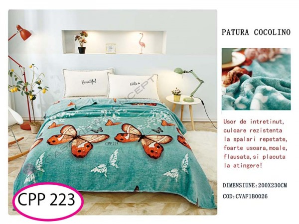 Patura Pufoasa Cocolino pentru pat dublu CPP 223