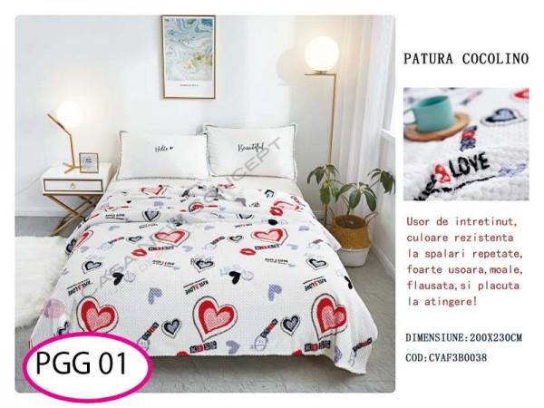 Patura Pufoasa Cocolino Grofata pentru pat dublu PGG 01