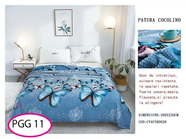 Patura Pufoasa Cocolino Grofata pentru pat dublu PGG 11