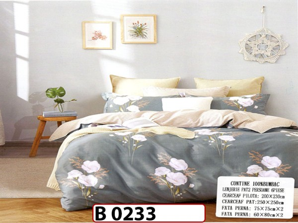 Lenjerie din bumbac 100% 6 piese CasaNewConcept - B0233