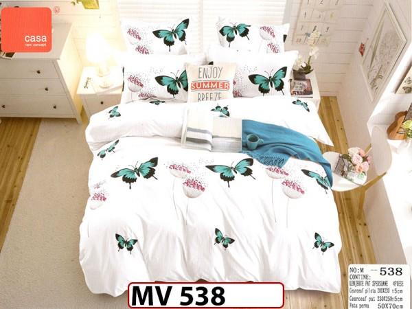 Lenjerie din bumbac Satinat 4 piese Casa New Concept - MV 538